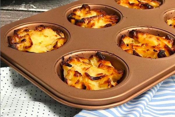 Llená la lunchera de muffins salados