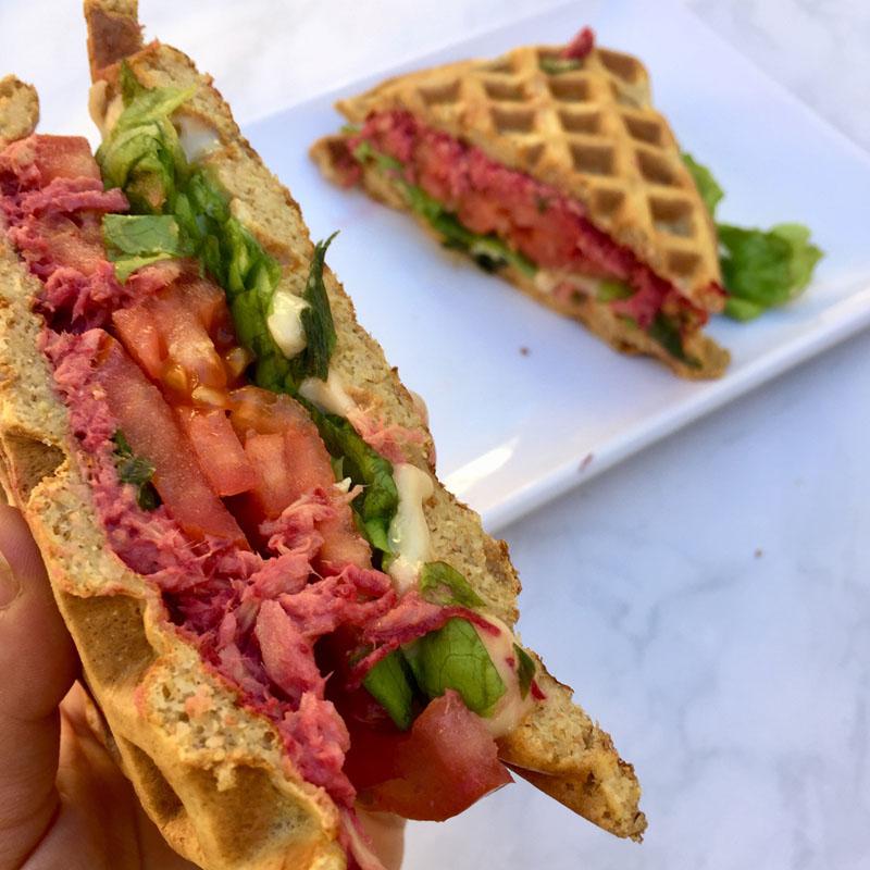 Recalculá con un sándwich waffle