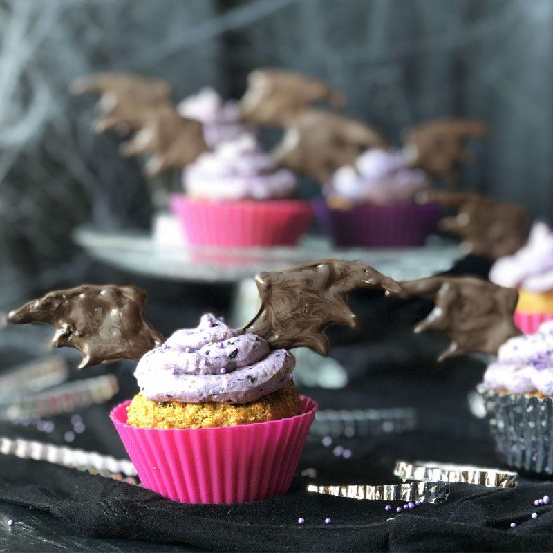 En Halloween: cupcakes vampiro