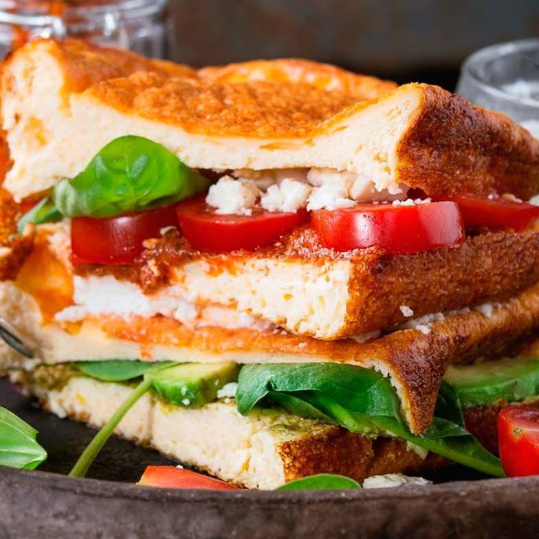 Sándwich en pan nube: ¡sentite en el aire!