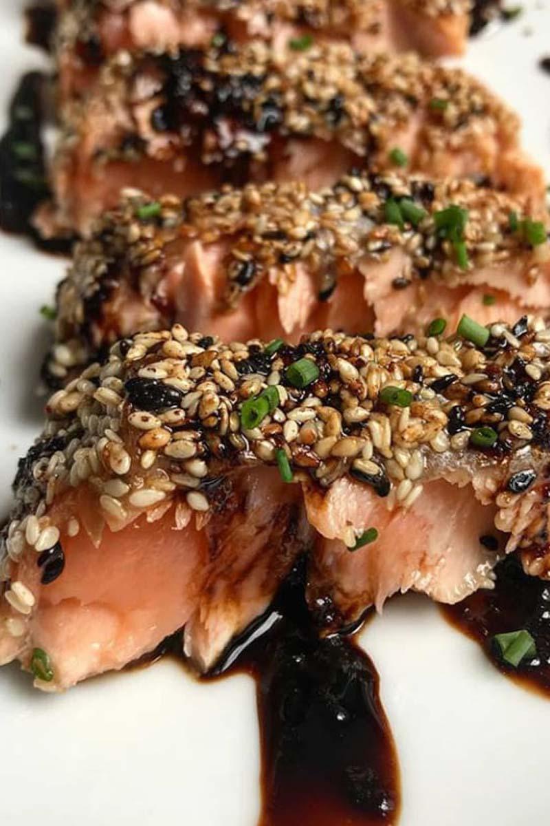 Salmón con salsa teriyaki en 30 minutos